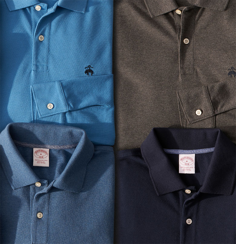 Polos, T-Shirts & Half-Zips by Brooks Brothers