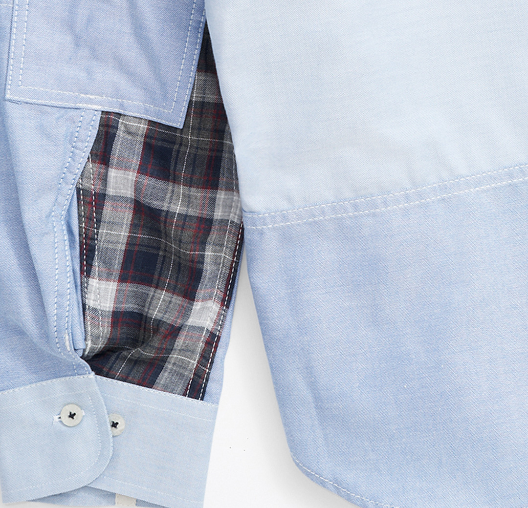 Brooks Brothers - Junya Collection - Blue Patchwork Button-Down
