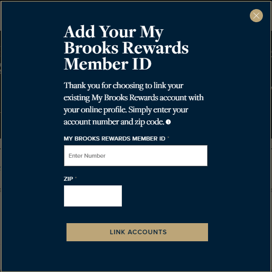 Select 'Link Account' in the Account Overview section, and then enter the Rewards account number and zip code in the pop-up window. (Please ensure pop-ups are not blocked within youyr Internet browser settings.