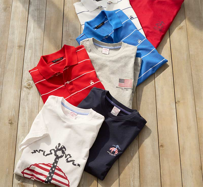 Onboard New Favorites T-Shirts by Brooks Brothers