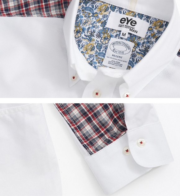 Brooks Brothers - Junya Collection - White Patchwork Button-Down