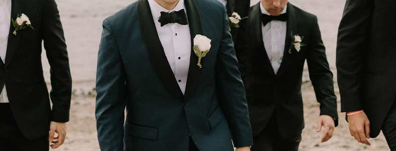 Formal and semi-formal styles for grooms, groomsmen and guests at Brooks Brothers