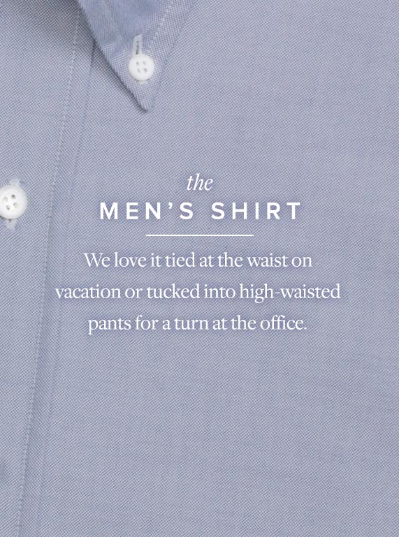 Borrowed from the Boys - The Men's Shirt